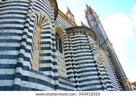 Orvieto Cathedral - stock photo