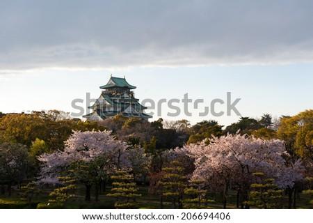 Osaka Castle Forest - stock photo