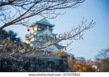 Osaka Castle in Osaka, Japan - stock photo