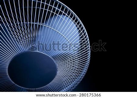 Oscillating upright fan - stock photo