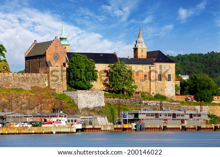 Oslo - Akershus Fortress, Norway - stock photo