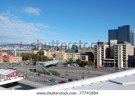 Oslo city center - stock photo