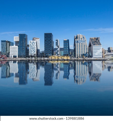 Oslo, Downtown, Bjoervia Norway - stock photo