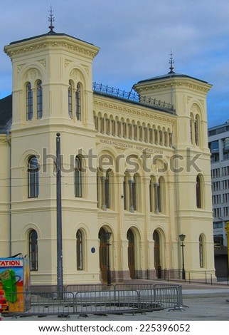 OSLO,NORWAY - AUGUST 12: Nobel Peace Center in Oslo on August 12, 2005. The Nobel Peace Center in Oslo, Norway is a showcase for the Nobel Peace Prize and the ideals it represents