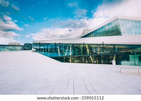 OSLO, NORWAY - JULY 31, 2014: The Oslo Opera House Is The Home Of The Norwegian National Opera And Ballet