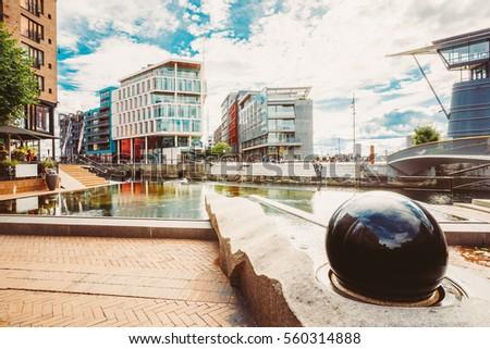Oslo Norway Modern District Scandinavian Architecture Stock Photo ...