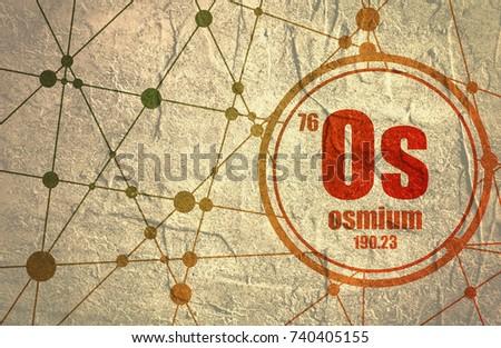 Osmium chemical element sign atomic number stock illustration osmium chemical element sign with atomic number and atomic weight chemical element of periodic urtaz Images