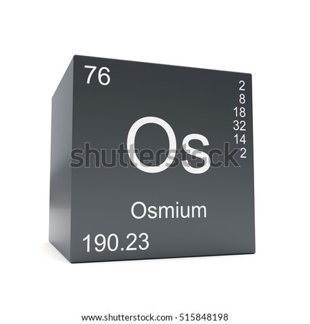Osmium chemical element symbol periodic table stock illustration osmium chemical element symbol from the periodic table displayed on black cube 3d render urtaz Choice Image