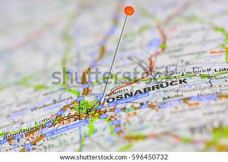 Osnabruck Pinned On Map Germany Stock Photo 596450732 Shutterstock