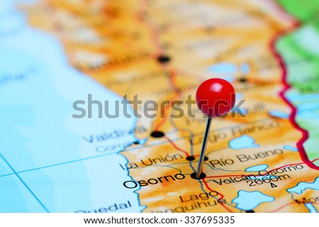 Osorno Pinned On Map Chile Stock Photo Shutterstock - Osorno map