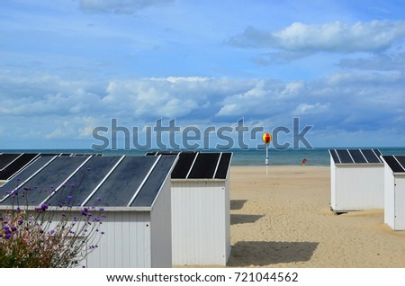 OSTEND, OOSTENDE/BELGIUM - SEPTEMBER 10, 2017 : View of Ostend in Belgium : the beach