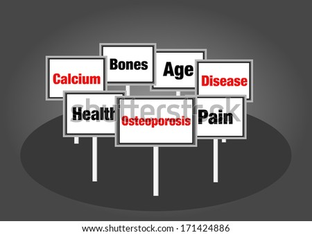 Osteoporosis signs - stock photo