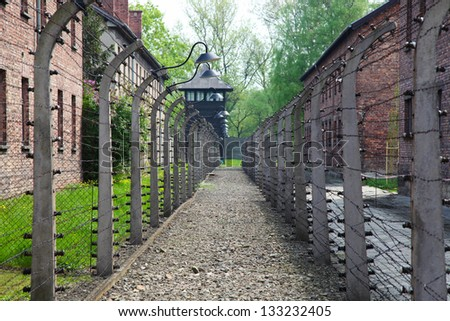 OSWIECIM, POLAND - APRIL 28: Auschwitz Camp, a former Nazi extermination camp on April 28, 2011 in Oswiecim, Poland. It was the biggest nazi concentration camp in Europe.