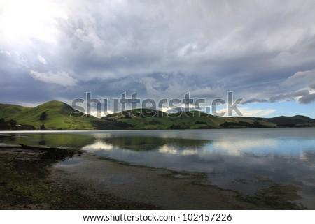 Otago Peninsula - Dunedin New Zealand - stock photo