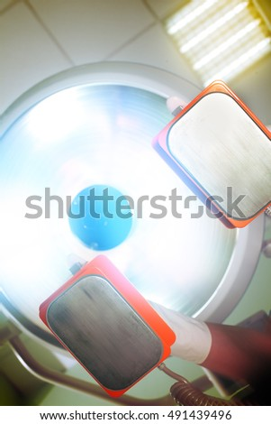 Otherworldly blinding light during patient's salvation.