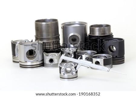 otomobil spare parts - stock photo