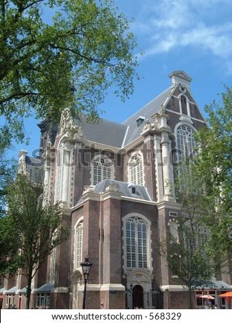 Oude Kerk in Amsterdam - stock photo