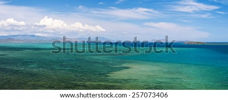 Oueno beach, seascape in New Caledonia