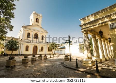 Our Lady of Carmel Church , Macau - stock photo