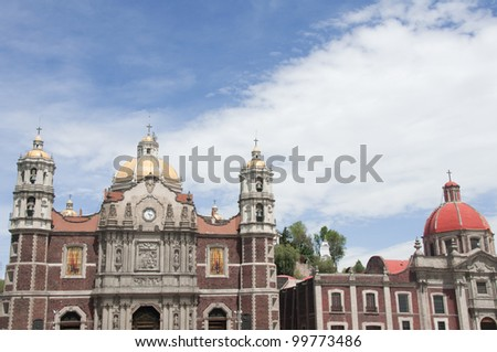 Our Lady of Guadalupe sanctuary in Mexico city - stock photo