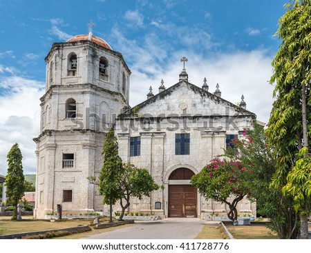 Our Lady of the Immaculate Conception catholic Church at Oslob in Sebu, Philippines - stock photo