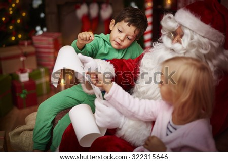 Our wish list is very long  - stock photo