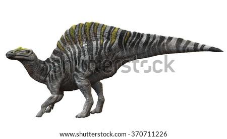 Ouranosaurus 3D Render - stock photo
