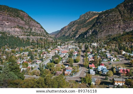 Ouray the Switzerland of USA - stock photo