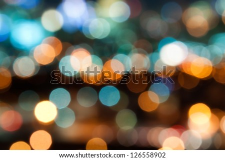 Out of focus big city lights. - stock photo