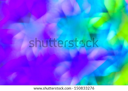 Out of focus colorful, multicolored light - stock photo