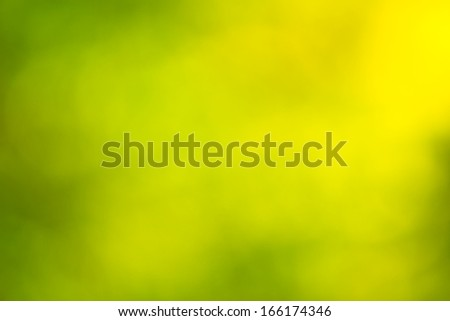 Out of focus green and yellow background - stock photo