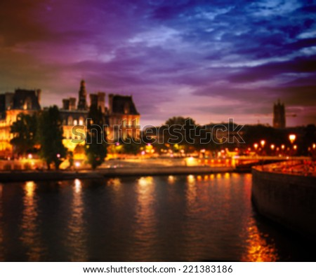 Out-of-focus shimmering city background of Paris, France