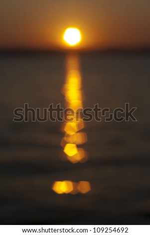 Out of focus sunset - stock photo