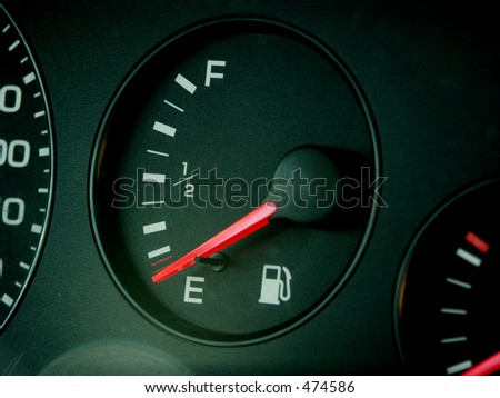 Out of gas - stock photo