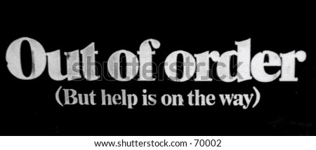 Out of Order Sign - stock photo