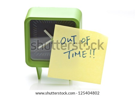 Out of time concept - stock photo