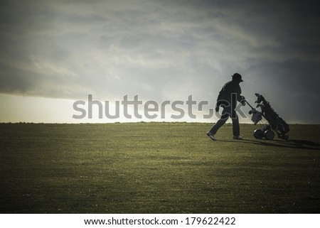 Out on the golf course - stock photo