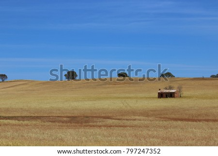 Outback farm house