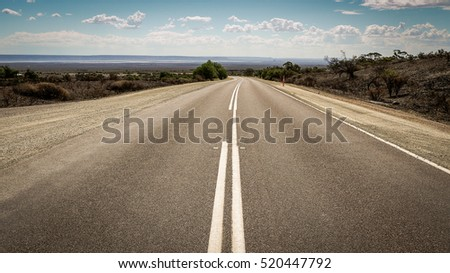 Outback road near Port Augusta, South Australia