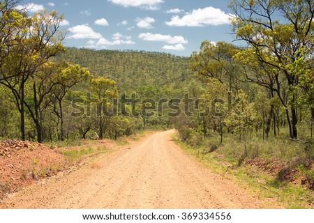 Outback Road, Queensland, Australia - stock photo
