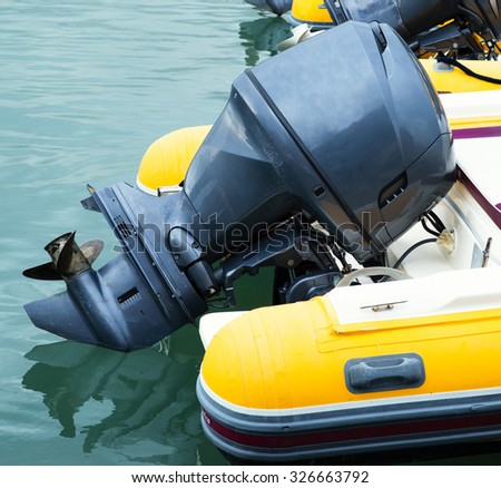 outboard engine on my noat