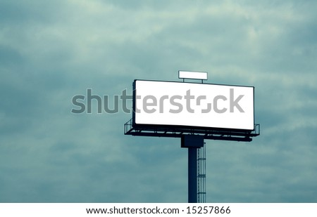 Outdoor advertising billboard, add your text on the empty space - stock photo