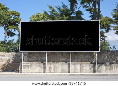 Outdoor advertising construction - stock photo