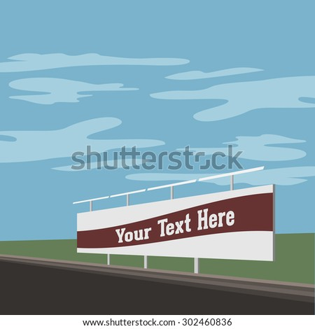 Outdoor advertising Stand Banner Shield Display on the Street. Illustration - stock photo