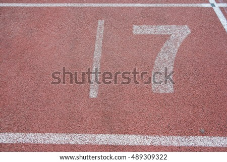 outdoor athletics final lane running track in stadium