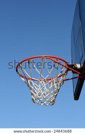 Outdoor basketball - stock photo