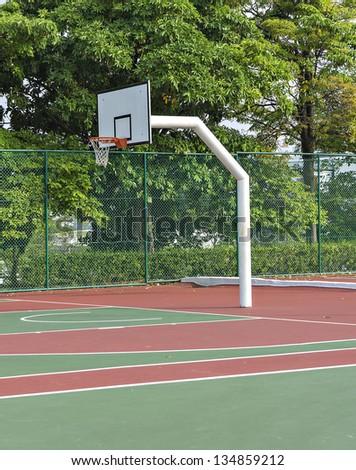 Outdoor basketball court - stock photo