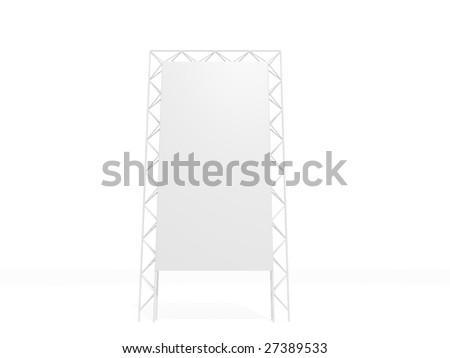 Outdoor billboard - stock photo