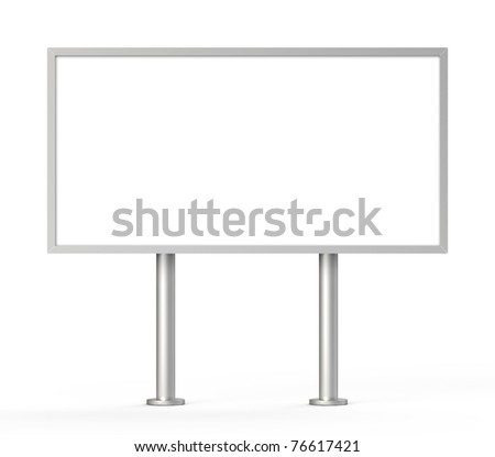 outdoor billboard isolated - stock photo