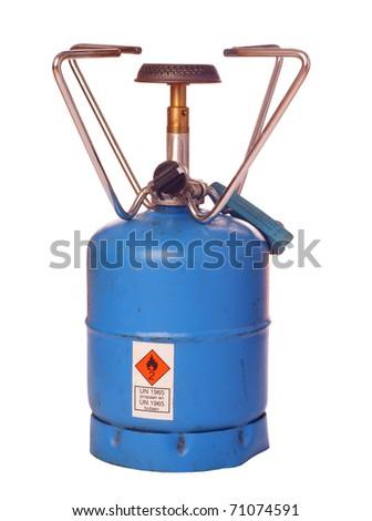 Outdoor butane burner, isolated against background - stock photo